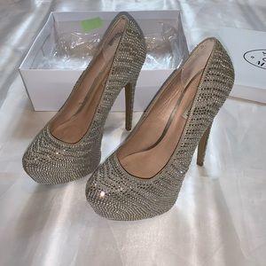 Diamanté Glitzy Platform Heels
